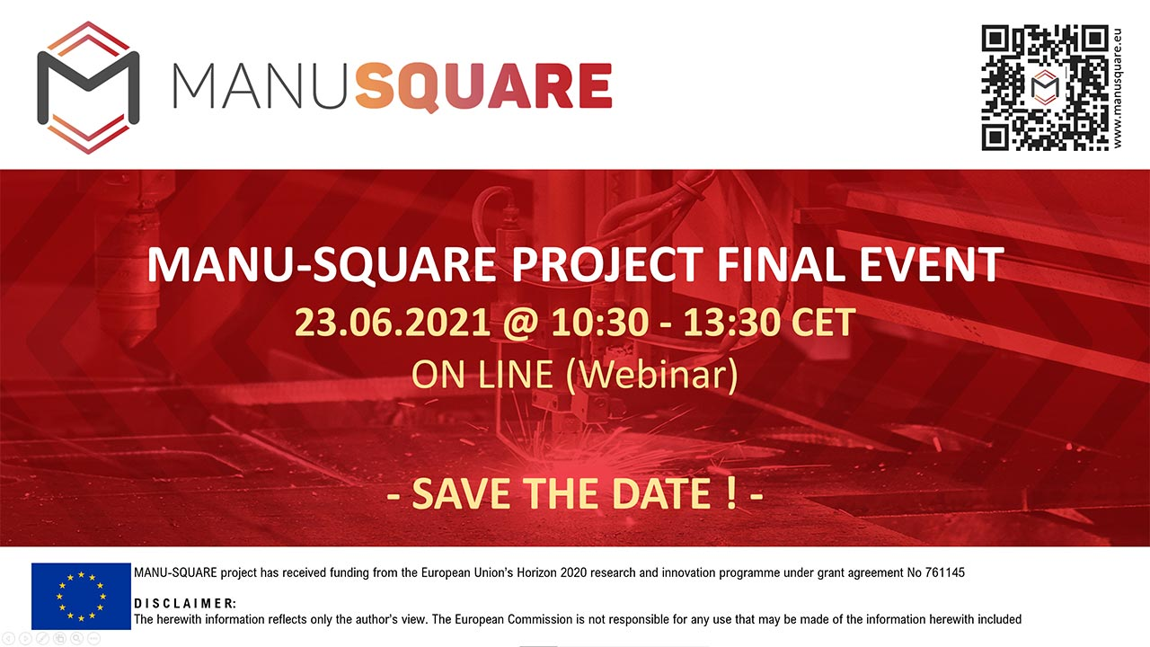 MANU-SQUARE Project organizes final event to be held next June 23rd, online