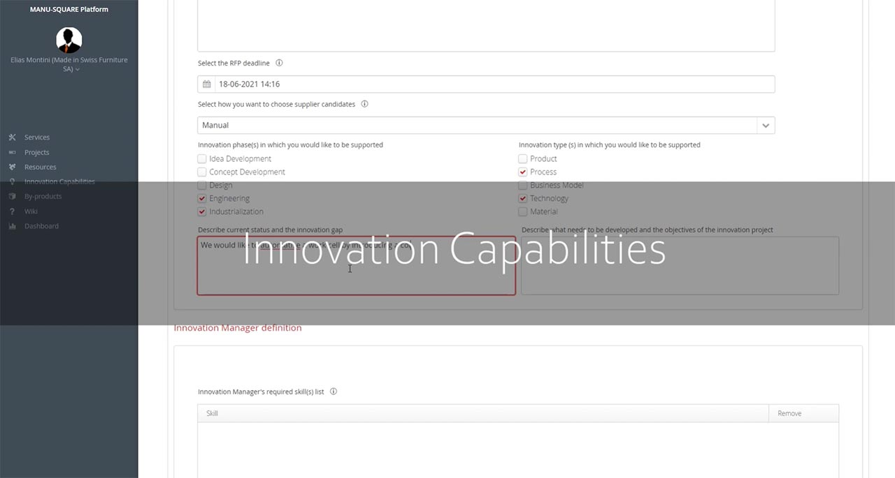 MANU-SQUARE platform launches a new tool: INNOVATION MANAGER