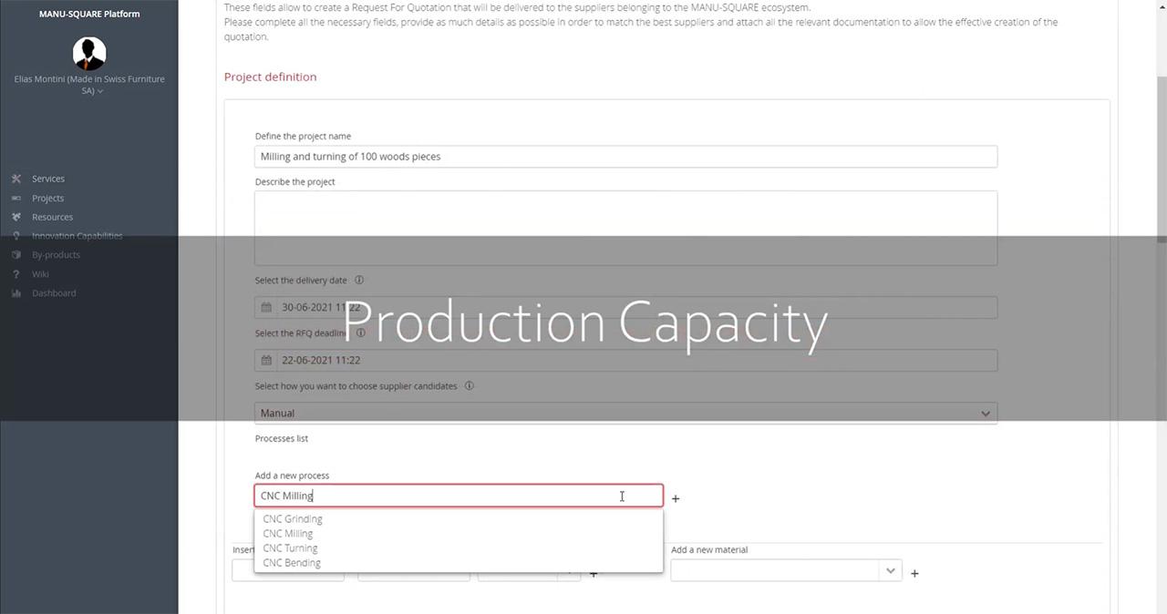MANU-SQUARE platform launches a Capacity Sharing tool