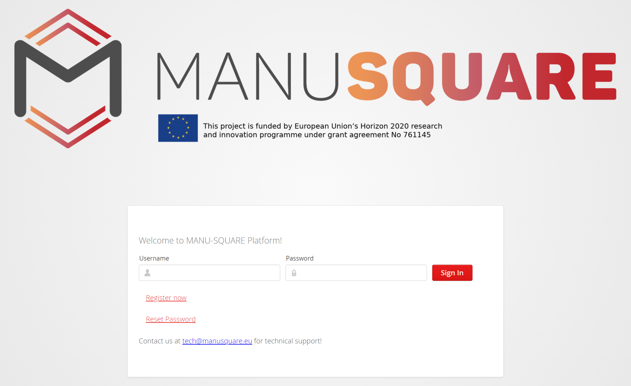 MANU-SQUARE platform is launched and open for users. Register to the platform today!
